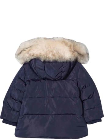 Monnalisa Newborn Blue Down Jacket