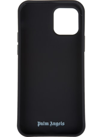 Palm Angels Black Iphone 12 Pro Case With Palms And Stars