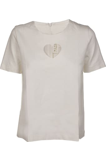 Paskal Short Sleeve Top With Heart Shaped Cut Out