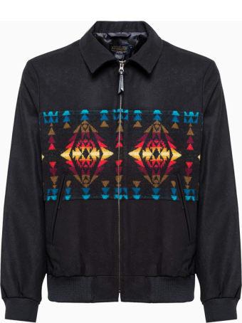 Pendleton Pieced Zip Pndleton Jacket Rk615 16048