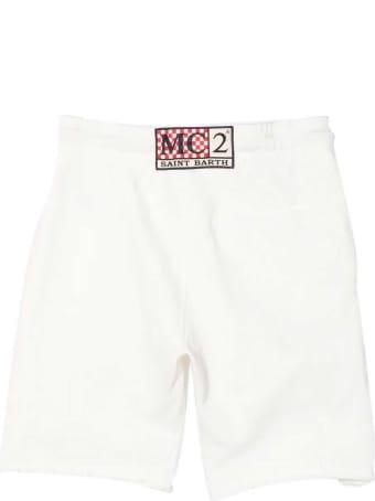 MC2 Saint Barth White Sports Shorts