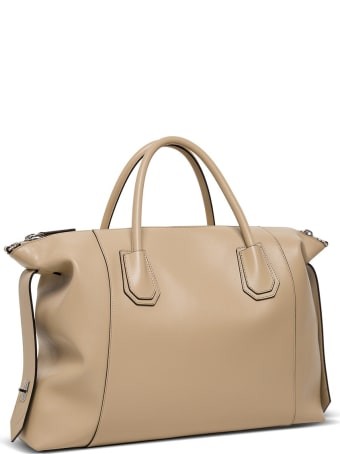Givenchy Antigona Soft Handbag In Beige Leather