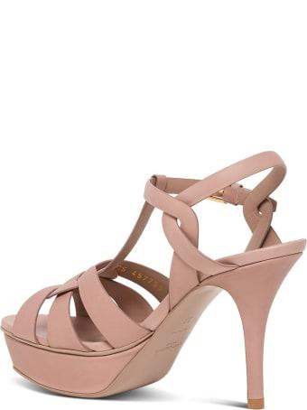 Saint Laurent Tribute Sandals In Pink Leather
