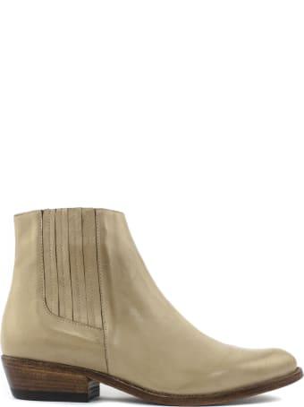 Duccio del Duca Ecru Leather Ankle Boot