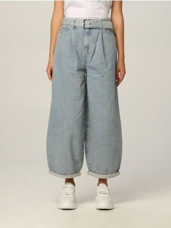 Armani Collezioni Armani Exchange Jeans Used Denim With High Waist Belt