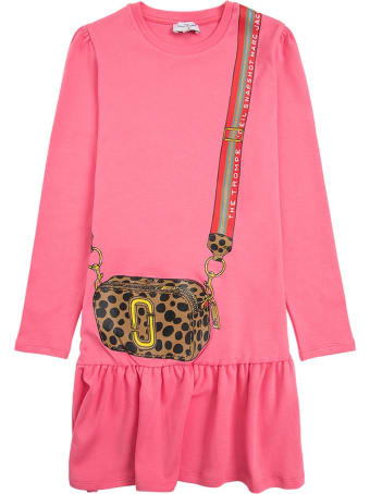 Marc Jacobs Pink Cotton Dress With Crossbody Bag Print