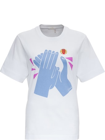 """Chloé """"clap For Her"""" Jersey T-shirt"""