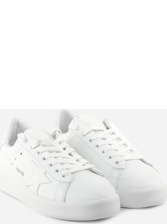 Golden Goose Purestar White Leather Sneakers