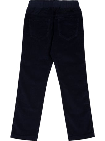 Il Gufo Blue Cotton Pants With Drawstring