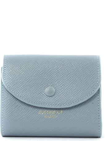 Avenue 67 Light Blue Leather Mini Wallet