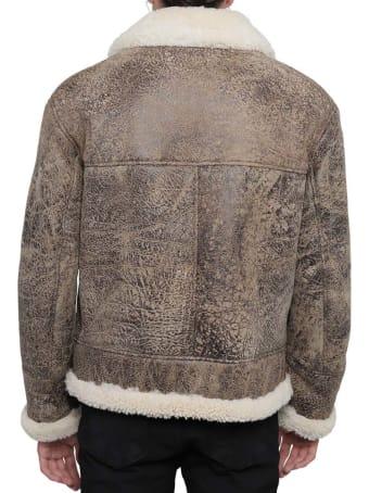 DRM Brown Shearling Jacket Men