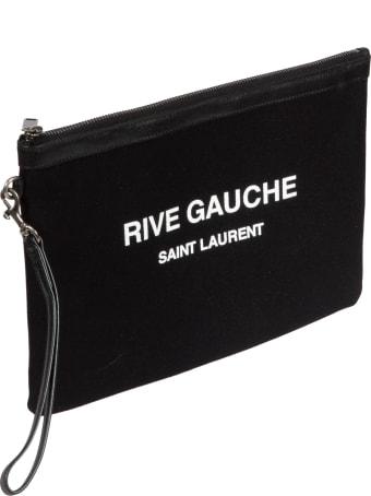 Saint Laurent Top Zip Printed Clutch
