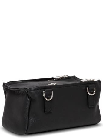 Givenchy Pandora Crossbody Bag In Black Leather With Logo