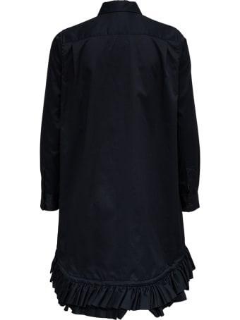 Noir Kei Ninomiya Long Black Cotton Twill Shirt
