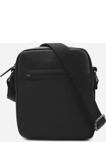 Calvin Klein Canvas Shoulder Bag With Logo Detail