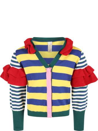 Tia Cibani Multicolor Cardigan For Girl