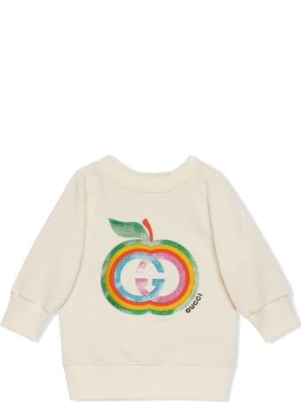Gucci Baby Cotton Sweatshirt With Apple