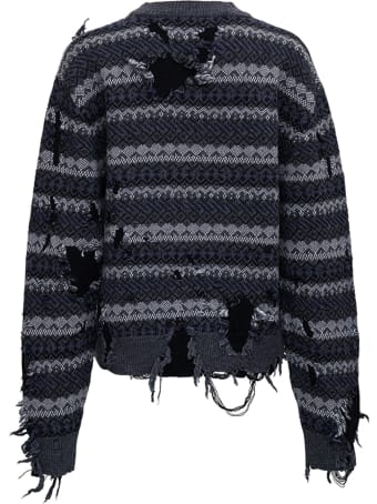 Balenciaga Destroyed Sweater In Wool Blend
