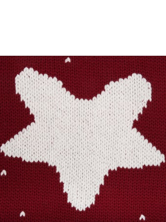 La stupenderia Bordeaux Blanket For Baby Kids With Star
