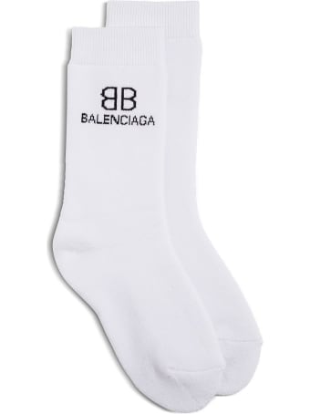 Balenciaga Cotton Socks With Contrasting Logo