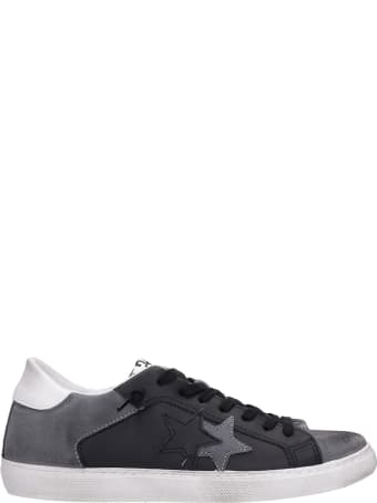2Star Sneakers In Black Suede And Leather