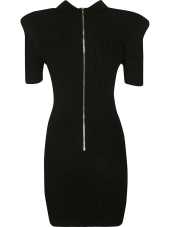 Balmain Rear Zip Slim Knit Dress