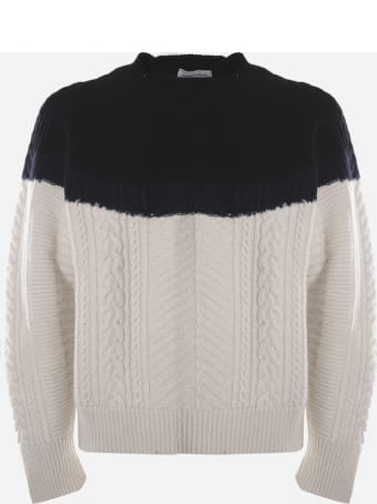 Alexander McQueen Cable Knit Wool And Cashmere Sweater
