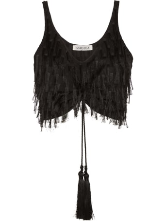 Amotea Kate Crop Top In Black Fil Coupe'