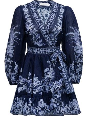 Zimmermann Aliane Floral Dress With Ruffles