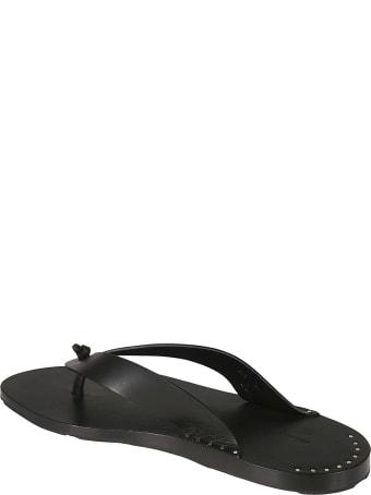 Jil Sander Studded Flip Flops