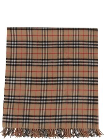Burberry Beige Blanket For Babykid