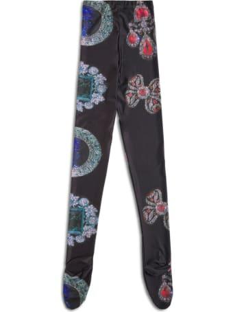 Chopova Lowena Stretch Fabric Leggings With Jewel Pendant Print