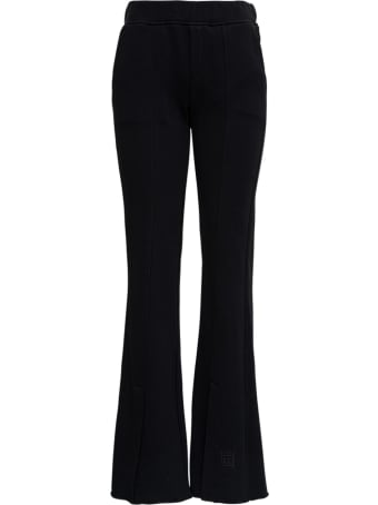 Federica Tosi Black Flared Trousers With Slits