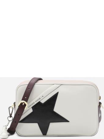 Golden Goose Star Leather Shoulder Bag With Contrasting Inserts