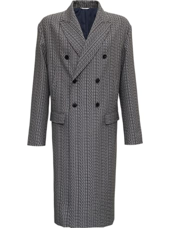Valentino Vltn Times Double-breasted Wool Coat