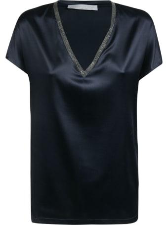 Fabiana Filippi V-neck Embellished Neckline Top