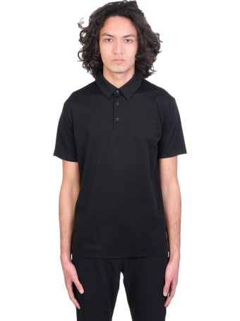 Attachment Polo In Black Cotton