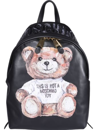 Moschino Painted Teddy Bear Backpack