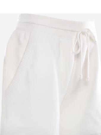 Miu Miu Cashmere Shorts With Logo Print