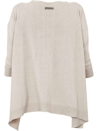 Archiviob A Shape Cotton Crew Neck 3/4s Sweater