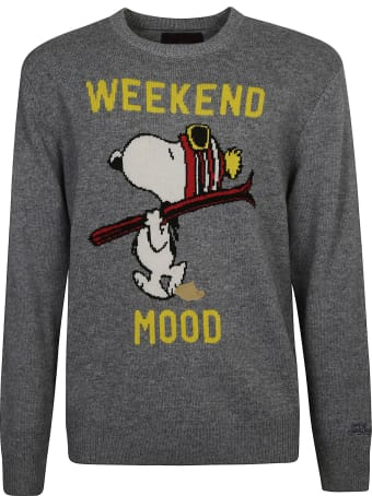 MC2 Saint Barth Snoopy Embroidered Sweater