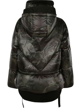 Ermanno Scervino High-neck Logo Plaque Camouflage Padded Jacket