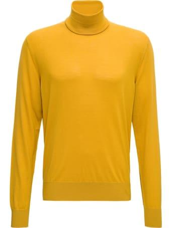 Dolce & Gabbana Yellow Wool Turtleneck
