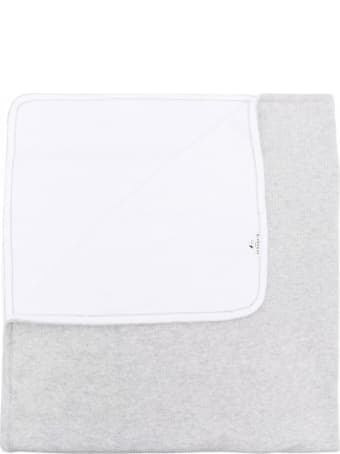 Givenchy Baby White And Grey Blanket In Cashmere And Cotton