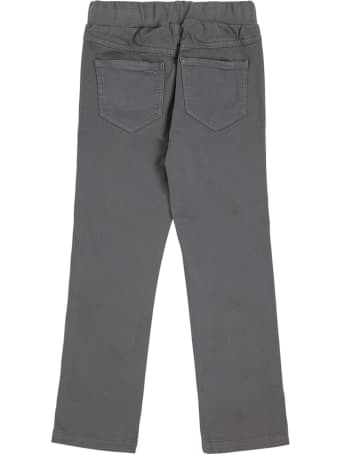 Il Gufo Grey Cotton Pants With Five Pockets