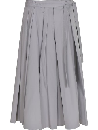 Prada Tie-waist Pleated Skirt