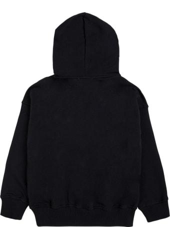 Moschino Black Cotton Hoodie With Teddy Bear Print