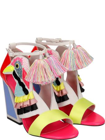 Kat Maconie Aya Sandals In Rose-pink Synthetic Fibers