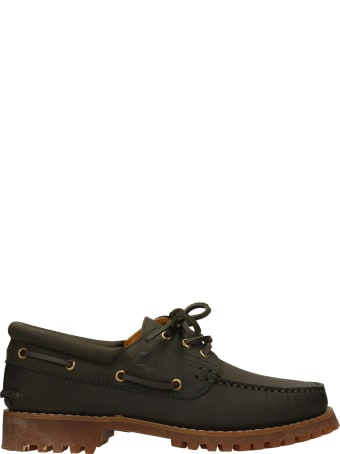 Timberland Loafers In Green Suede