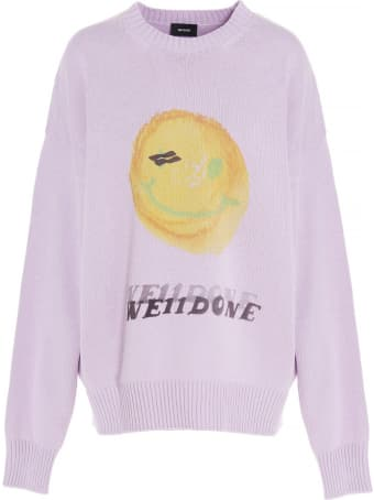 WE11 DONE 'smiley Logo' Sweater